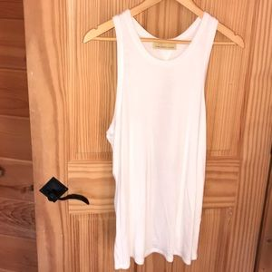 White tank with cut out back